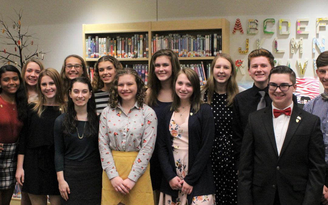 WCS inducts 13 into National Honor Society