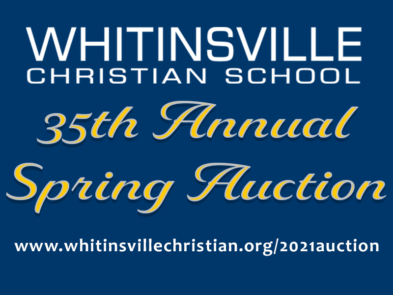 2021 Annual Spring Auction Going Virtual April 8-9